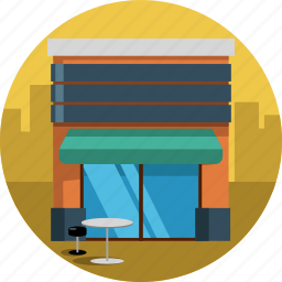 bar, cafe, city, coffee, table icon