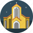church, night, stars icon