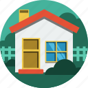 bush, home, house, trees icon
