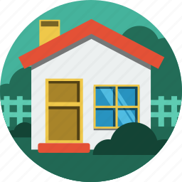 bush, home, house, trees icon