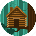 house, wood, trees, cabin