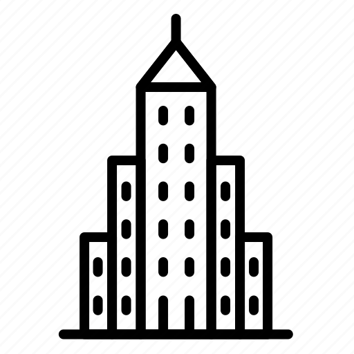 building, city, hotel, office, skyscraper, tower icon