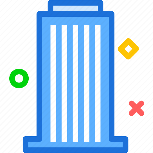 building, desk, downtown, office, tower icon