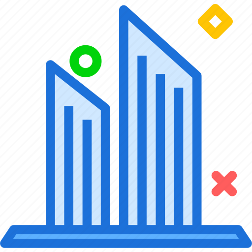 buildings, modern, officespace, sharp, towers, twins icon