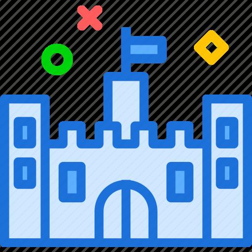 castle, citadel, emperor, king, old icon