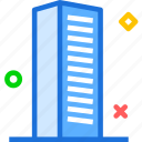 building, desk, officespace, tall icon