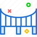 bridge, connection, cross, road, water icon