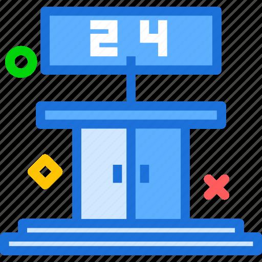 cinema, doors, nonstop, open icon