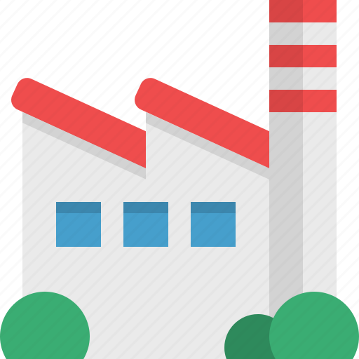 construction, facility, factory, industry, pollution, workplace icon