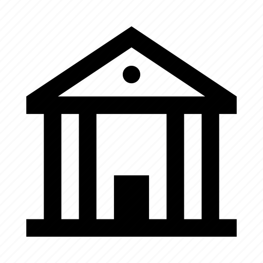 bank, building, house icon