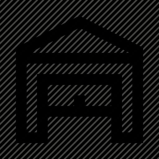 building, garage, open icon