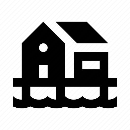 building, home, house, pile, place, water icon