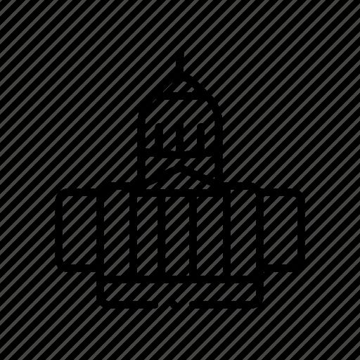 building, cap, capital, capitol, city, hill icon
