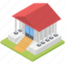 city hall, commercial building, community hall, government building, sports complex icon
