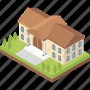 college, institute, educational building, school, university icon