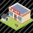 animal clinic, hospital, pet clinic, vet hospital, veterinary clinic icon