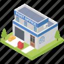 airmail, mail, office, post office, post office building, postal services icon