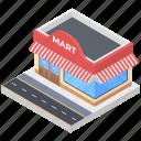 commercial building, marketplace, mini market, shop, store, storefront icon