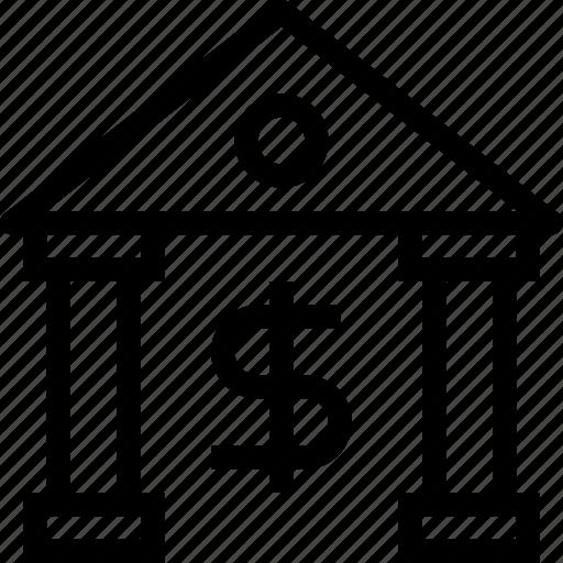 bank, finance, financial, institute, money icon