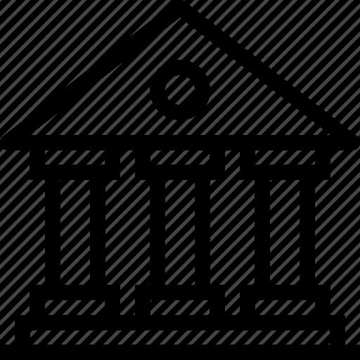 bank, institute, money, school, university icon