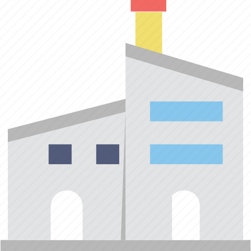 factory, industry, manufactory, mill, plant icon