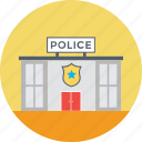building, department, police, police station, safety center icon
