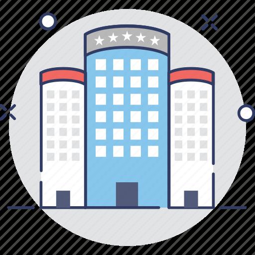apartments, building, hotel, inn, lodge icon