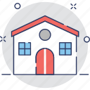 apartment, building, bungalow, home, house icon