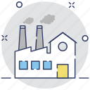 chimney, factory, industry, manufactory, mill