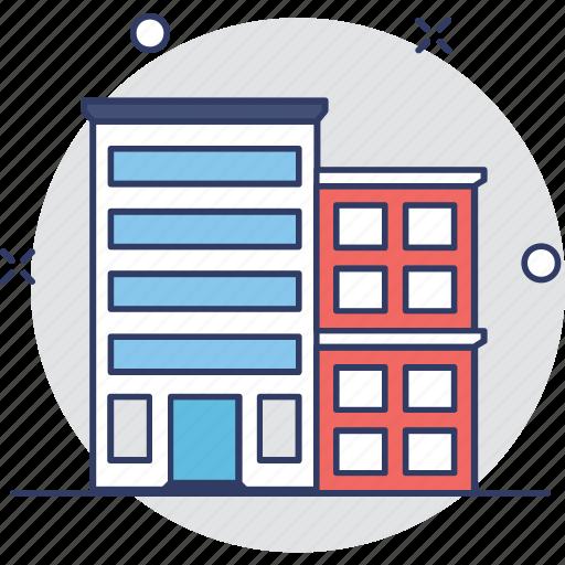 apartments, building, flats, real estate, trade center icon