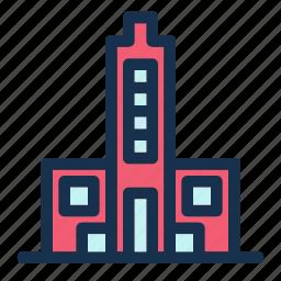 building, city, facility, skyscraper, tower icon