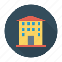 apartment, architect, building, commercial, construction, estate, real icon