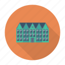 apartment, architect, building, estate, living, real, resident icon