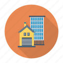 apartment, building, city, estate, home, real, residential icon