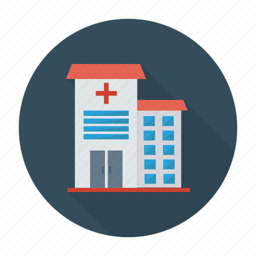 building, clinic, estate, health, hospital, medical, real icon