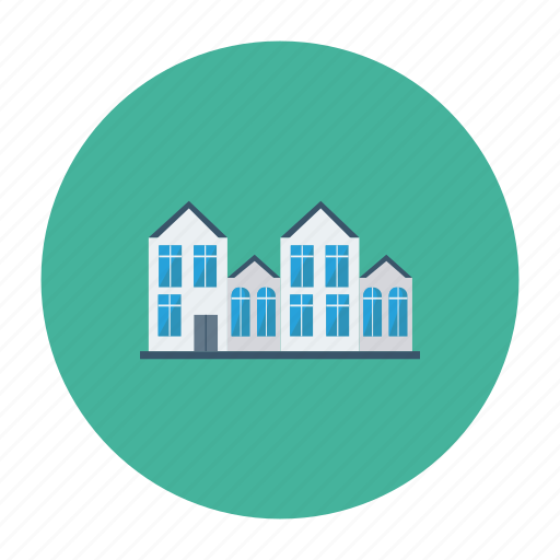 apartment, architect, building, estate, hostel, house, real icon