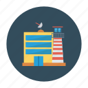 building, real, estate, airport, architect, satelite, tower icon