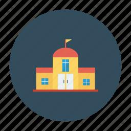 architect, building, college, estate, home, real, school icon
