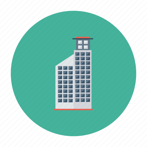 architect, building, city, estate, office, real, towe icon