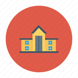 architect, building, college, estate, place, real, school icon