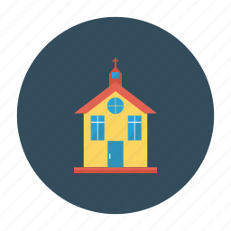 building, christian, church, city, estate, place, real icon