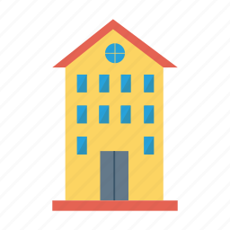 apartment, architect, building, estate, house, real, tower icon