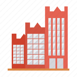 apartment, architect, building, estate, hotel, office, real icon