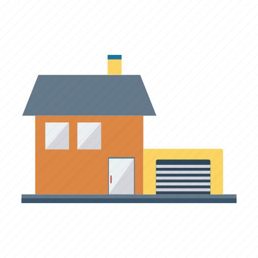 architect, building, estate, garage, house, real, room icon