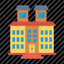 architect, building, estate, hotel, house, real, restaureant icon