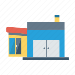 architect, building, estate, property, real, store, town icon
