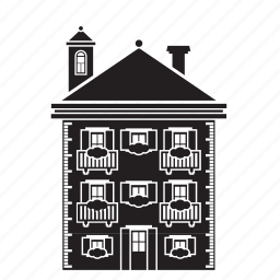 apartment, building, home, house, old, residential icon