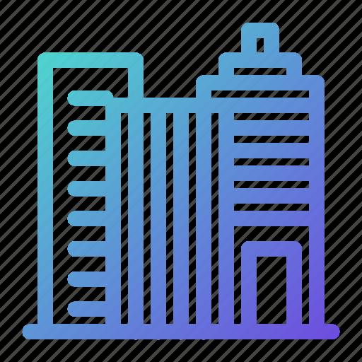 building, cit, facility, skyscraper, tower icon