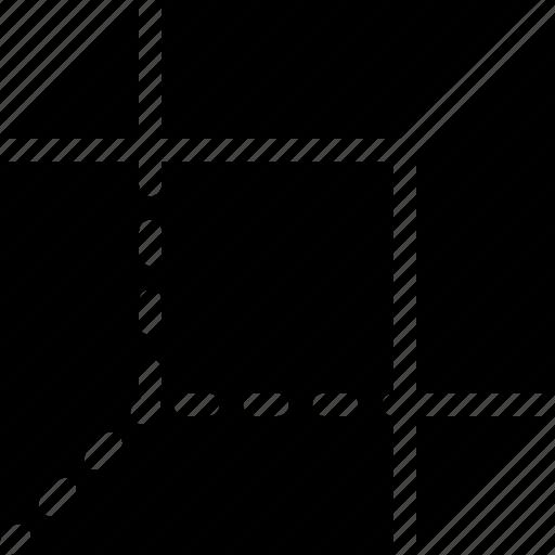 base, creative, grid, layout, scheme, shape, structure icon
