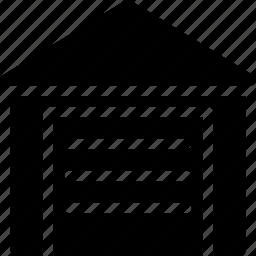 building, creative, goods, grid, shape, storage, warehouse icon